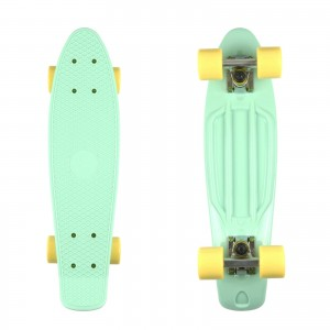 Deskorolka FISH SKATEBOARDS Mint/Yellow