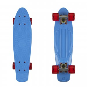 Deskorolka FISH SKATEBOARDS Blue/Red transparent
